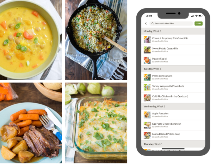 healthy winter meals in the Prepear app